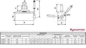 ML Lifter Specs-Bunting-Elk Grove Village-BuyMagnets